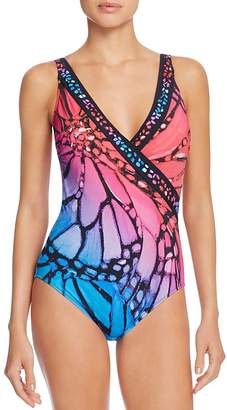 Gottex Monarch Wrap One Piece Swimsuit $178 thestylecure.com