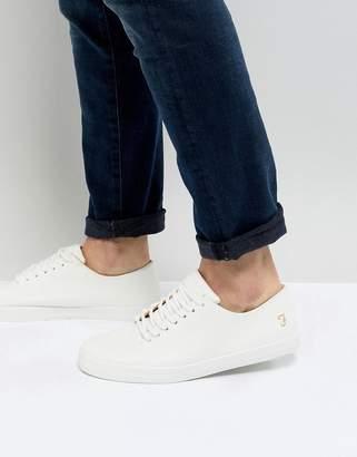 Farah Kiln Logo Sneakers in White