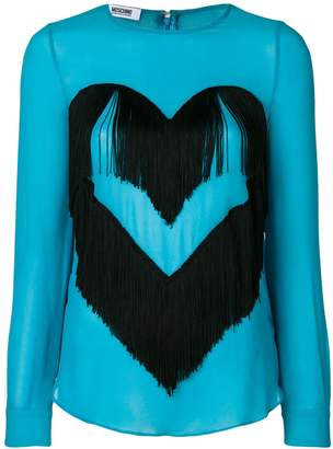 Moschino Pre-Owned fringed heart blouse