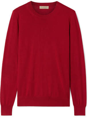 Burberry Merino Wool Sweater - Red