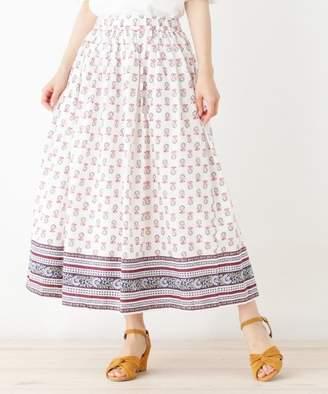 PINK adobe (ピンク アドベ) - pink adobe パネル柄ギャザースカート