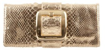 MICHAEL Michael Kors Michael Kors Collection Metallic Python Clutch