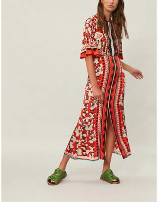 Temperley London Odyssey silk-crepe midi dress