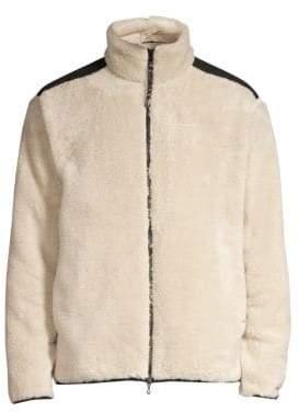 Rag & Bone Sherpa Zip-Front Fleece Jacket