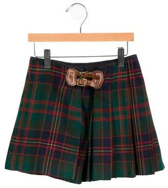 Ralph Lauren Girls' Wool Plaid Skirt