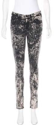 Rag & Bone Mid-Rise Acid Wash Jeans