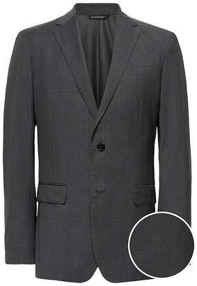 Banana Republic Slim Italian Wool Plaid Suit Jacket