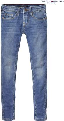 Next Girls Tommy Hilfiger Girl Blue Nora RR Skinny Ankle Jean