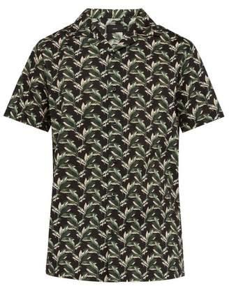 Onia Vacation Cotton Shirt - Mens - Black Multi