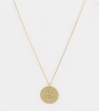 Orelia gold plated grl pwr pendant necklace