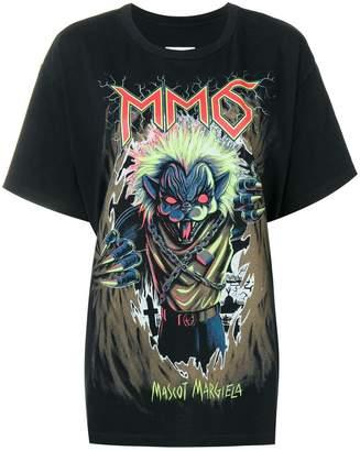MM6 MAISON MARGIELA Zombie cat print T-shirt