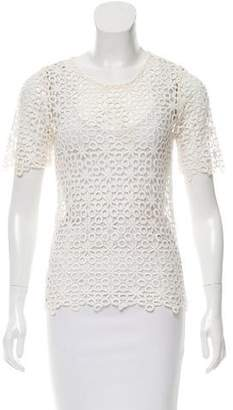Alexis Lace Short Sleeve Top