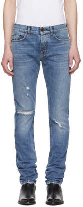 Saint Laurent Blue Slim Jeans
