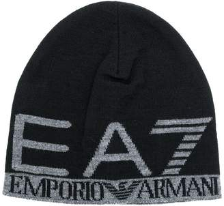 Emporio Armani Ea7 logo knit cap