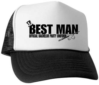 9e76be2d CafePress - Best Man - Trucker Hat, Classic Baseball Hat, Unique Trucker Cap