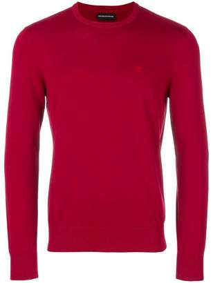 Emporio Armani slim fit logo sweater
