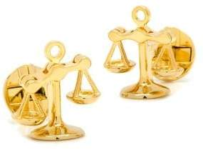 Cufflinks Inc. Cufflinks, Inc. Goldtone Moving Parts Scales of Justice Cuff Links