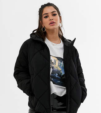 Asos DESIGN petite puffer made with recycled plastic bottles