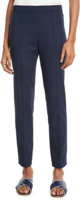 Loro Piana Side-Zip Skinny-Leg Cotton Ankle Pants