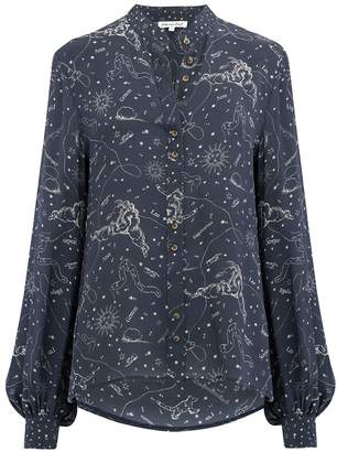Lily & Lionel Maddox Astrology Shirt in Navy
