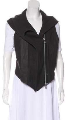 Haider Ackermann Leather-Paneled Wool Vest
