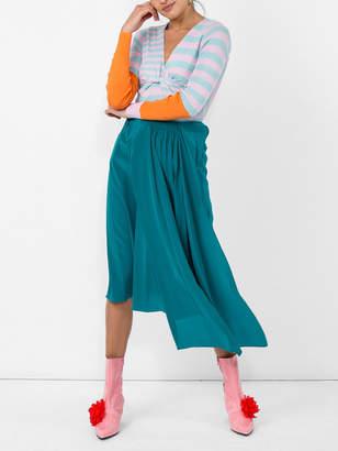 Tome Draped midi skirt