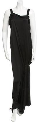 Yohji Yamamoto Silk Wide-Leg Jumpsuit w/ Tags $525 thestylecure.com