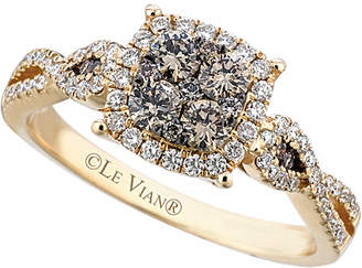 LeVian Le Vian 14K 0.76 Ct. Tw. White & Brown Diamond Ring