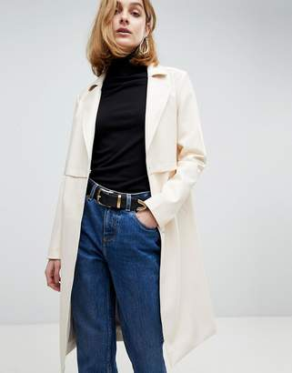Asos Faux Leather Trench Coat