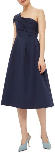 TopshopWomen's Topshop One-Shoulder Midi Dress