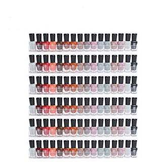 clear Display4top 6 Pack Of Acrylic Nail Polish Rack