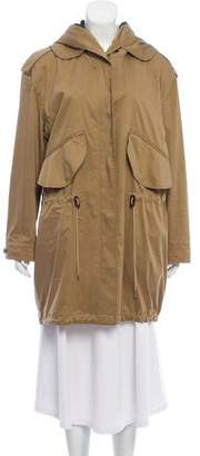 Burberry Hooded Two-Way Zip Up Jacket