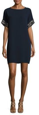 Carmen Marc Valvo Embellished Jewelneck Dress $595 thestylecure.com