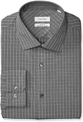Calvin Klein Men's Dress Shirt Non Iron Regular Fit Check