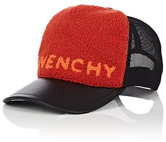 Givenchy Men's Leather-Brim Logo Baseball Cap