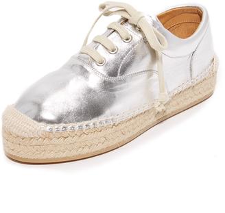 MM6 Espadrille Platform Sneakers $395 thestylecure.com