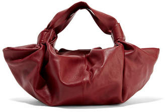 The Row Ascot Small Leather Tote - Claret
