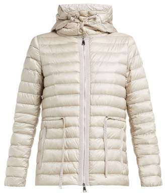 Moncler Raie Hooded Quilted Down Jacket - Womens - Beige