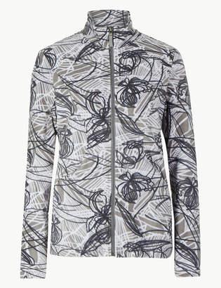 Marks and Spencer Floral Print Fleece Jacket