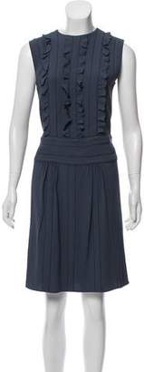 Prada Ruffled Knee-Length Dress