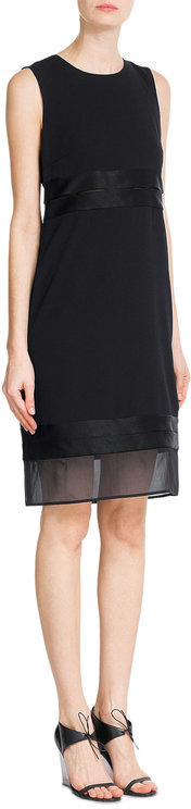 DKNY DKNY Shift Dress with Tulle Trim