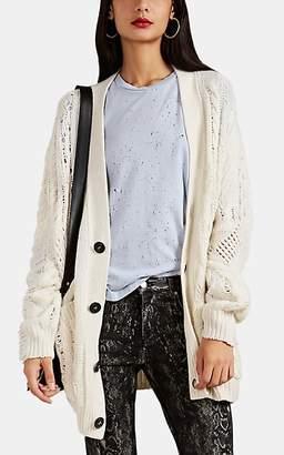 Amiri Women's Cable-Knit Cashmere-Wool Oversized Cardigan - Cream