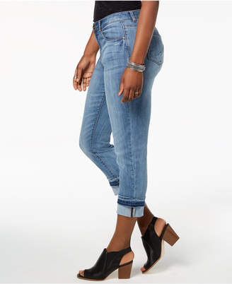 Style&Co. Style & Co Cuffed-Hem Straight-Leg Jeans, Created for Macy's