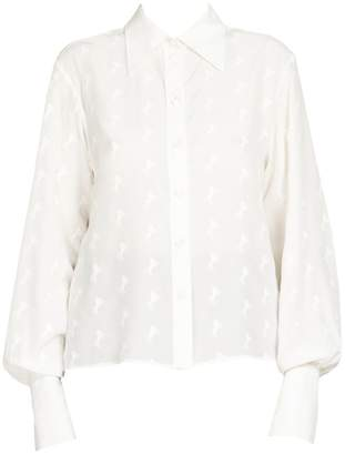 Chloé Embroidered Button-Down Blouse