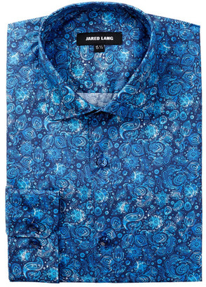 Jared Lang Long Sleeve Floral Print Dress Shirt $190 thestylecure.com