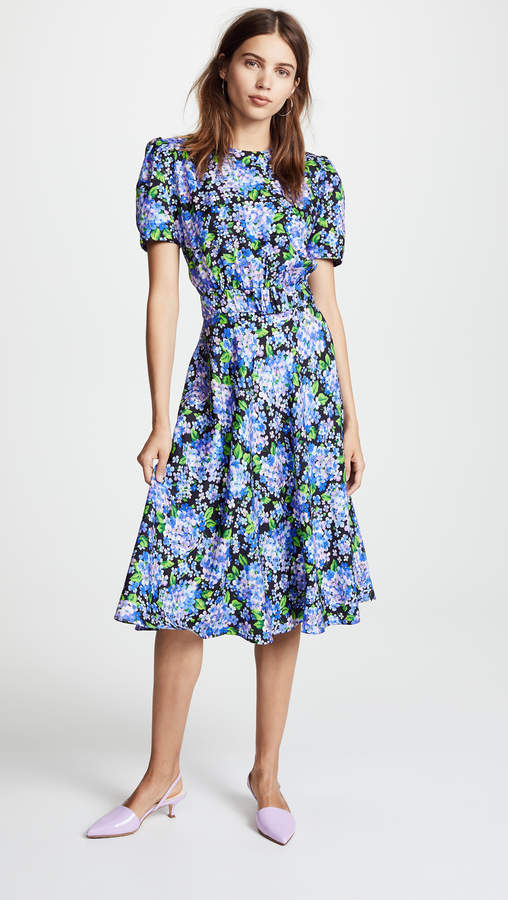 Fitted Tea Length Dress