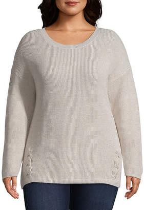 A.N.A Side Lace Detail Pullover Sweater - Plus