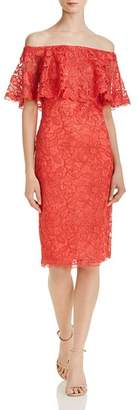 Tadashi Shoji Off-the-Shoulder Lace Dress