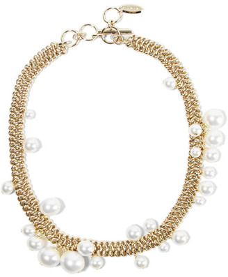 Lanvin - Gold-tone Faux Pearl Necklace $1,190 thestylecure.com