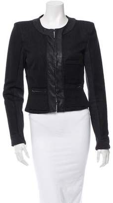 A.L.C. Leather-Trimmed Woven Jacket